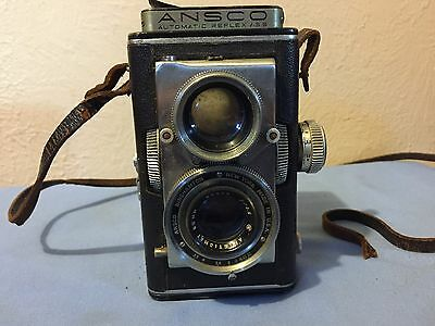 Vintage ANSCO Automatic Twin Lens Reflex Camera 3.5 83mm Lens Serial #0002586