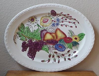 Vintage 1940's Oval Serving Platter - FRUITDALE by Vernon Kilns - Fruit/Flowers