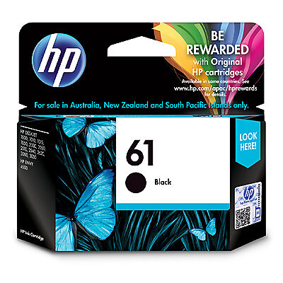 HP Genuine 61 Black Original Ink Cartridge CH561WA