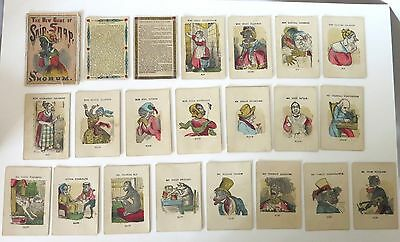 Black Americana The New Game Of Snip, Snap, Snorum Antique Card Game