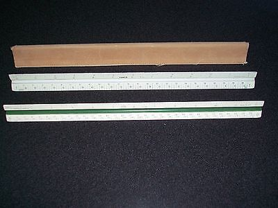 2 DRAFTING TRIANGULAR. RULERS--VEMCO and KEUFFEL & ESSER CO.