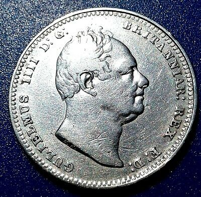 1834 William IV Silver Shilling Great Britain UK English Coin