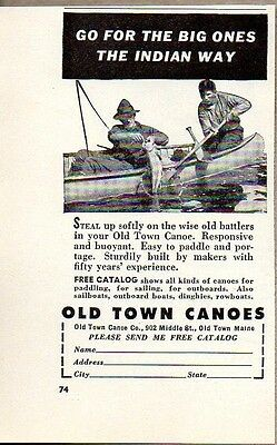 1953 Print Ad Old Town Canoes Made in Old Town,Maine