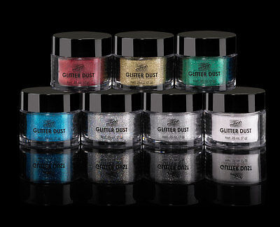 Mehron Glitter Dust Hair Body Cosmetic Grade Professional Make Up Silver Gold