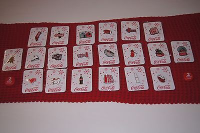 Coca-Cola Full Set of Collectible Pin (20 pсs) Russia Christmas 2017 Rare badges
