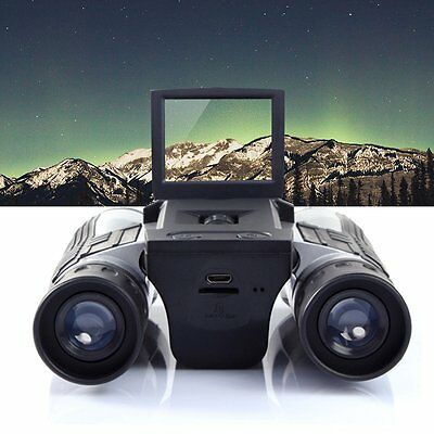 12x32 HD Black Binoculars Telescope Folding with Built-in Digital Camera QG