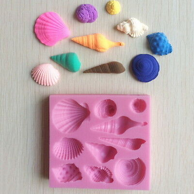 Silicone 3D Seashell Beach Shells Cake Molds Chocolate Mould Decoration QG