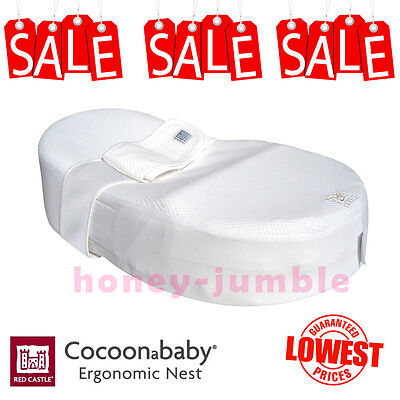 NEW Red Castle Cocoonababy Nest - Ergonomic Newborn Baby Sleeping Aid Mattress