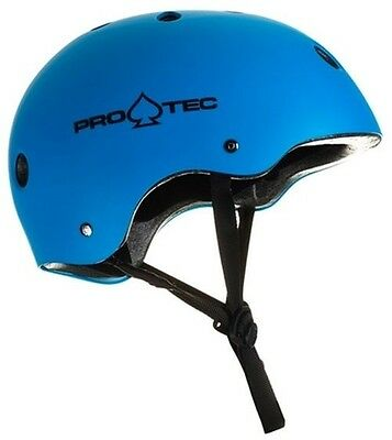 Pro-Tec Classic Skateboard Helmet Certified - Matt Blue / 3-sizes