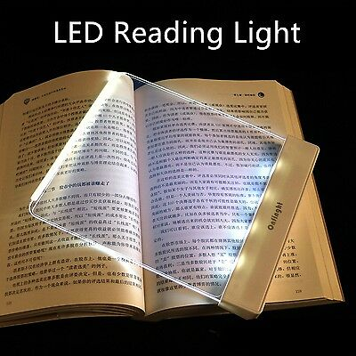 LED Glass ABS Night Reading Light Board for Ebook Readers Books