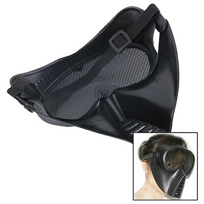 New Hot BB Mesh Face Goggle Full Face Protecting Black Mask Skull For CS QG
