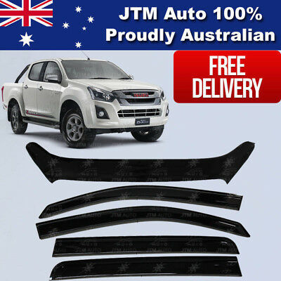 ISUZU D-max Dmax Bonnet Protector Guard and Weather Shields Visor 2017 ON