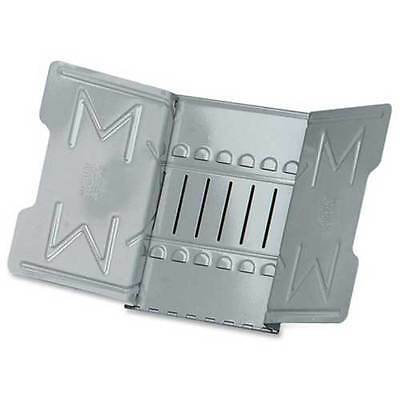 "Master Products Catalog Rack 906G Heavy Metal Hinged 18"" Wide with 1"" Clips GRAY"