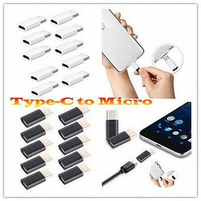 10X Micro USB to USB 3.1 Type-C USB Data Adapter for Oneplus 3/Tablet/Cellphones