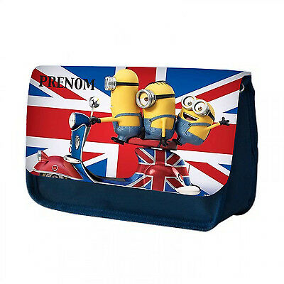TROUSSE MULTI USAGE CRAYON / MAQUILLAGE / TOILETTE MINION LONDRES Personnalisé