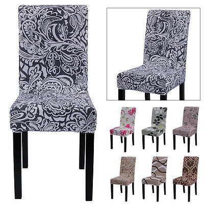 Stretch Super Fit Short Dining Room Chair Cover Slip Covers Protector Seat Cover