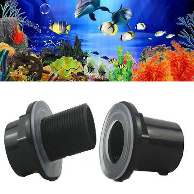 20/25/32mm Fish Tank Aquarium Straight Tank Connector Waterproof Pipe Joint Blac