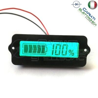 INDICATORE DI CARICA VOLTMETRO Display led per batterie al piombo 12V