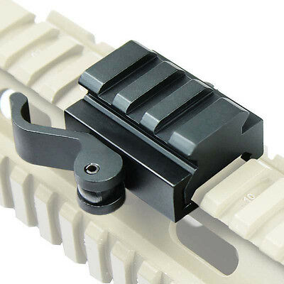 "3 Slots Quick Release Detach 1/2"" Mini Riser Base QD Mount For Picatinny Rail"