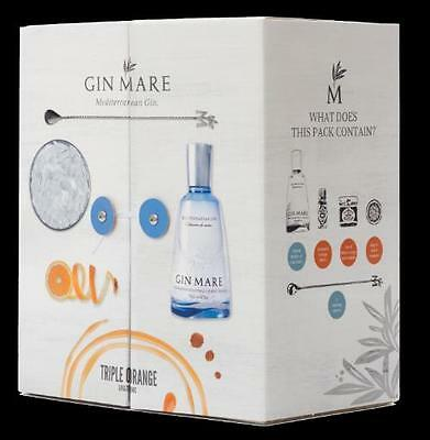 GIN MARE TRIPLE ORANGE PACK Bottiglia 70cl + Marmellata + Bitter +Arance + Spoon