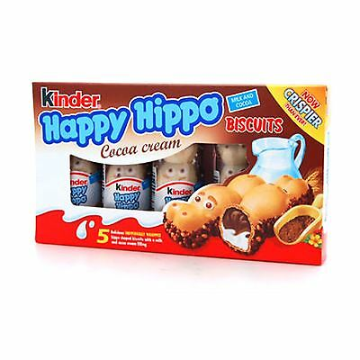 Kinder Happy Hippos Milk & Cocoa Biscuits Cream Filling 5 Pack 7g (10 x 5 packs)