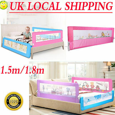 150/180cm Summer Infant Fold Down Single Safety Bed Rail Guard Baby Kids Toddler