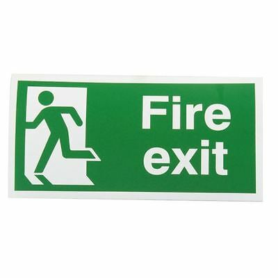 Safety Sign Fire Exit Running Man Left 150x300mm Self-Adhesive E96A/S [SR71184]