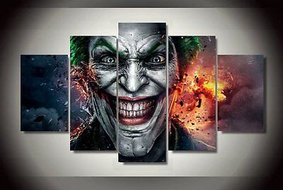 HD Printed Modern Abstract Oil Painting Wall Decor Art Huge - Movie clown