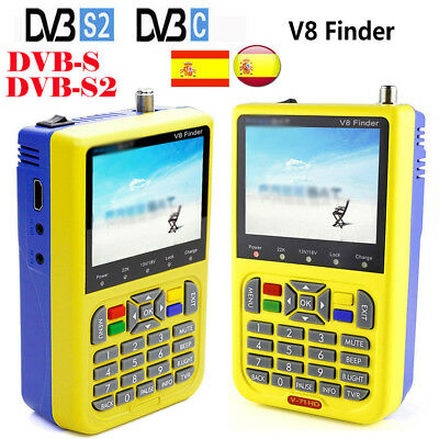 Latest V8 Finder HD DVB-S/S2 FTA LCD High digital Definition Satellite MPEG-4