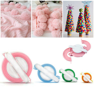 8pcs 4 Sizes Essential Pompom Maker Fluff Ball Weaver Needle Knitting DIY Tool