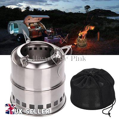 Portable Wood Gas Burning Outdoor Camping Picnic Party Stove Alcohol Stove AU