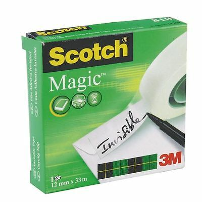 Scotch 810 Magic Tape 12mmx33M, for paper repairs and sealing [3M66728]