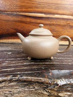 Rare Antique Chinese Yixing Pottery Teapot  3 Legs With Marked