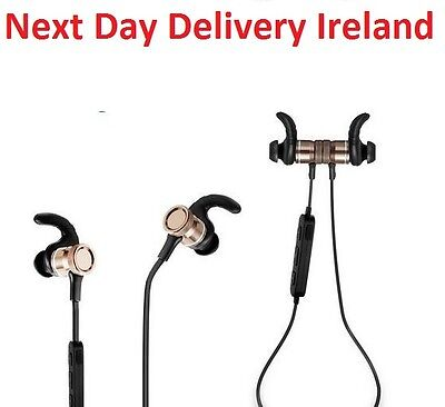 4.1 Bluetooth Wireless Metal Hook Sport Mic In-Ear Headphone Gym Earphones