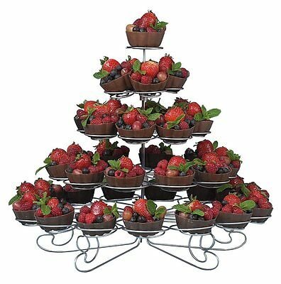 5 Tier Cupcake Holder Stand Round Spiral Metal Dessert Display Table Decoration