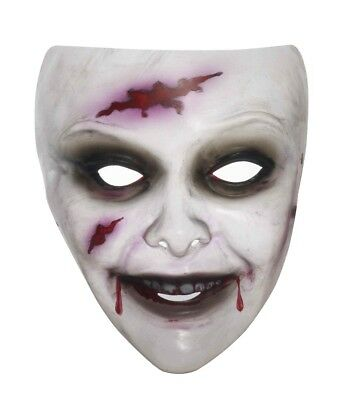 Transparent Female Zombie Costume Mask