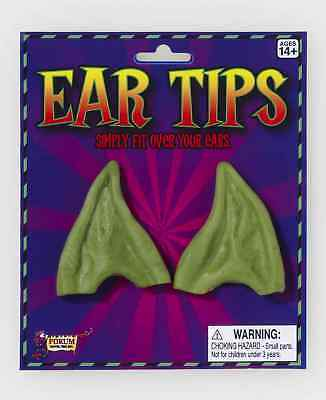 Pointed Green Costume Ear Tips One Size