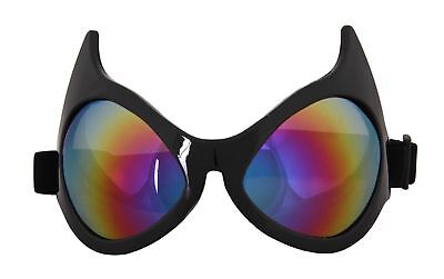 Cat Eye Costume Goggles Adult: Rainbow Lens One Size
