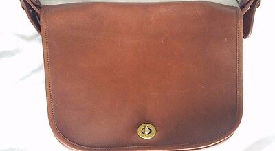 Coach Vintage Brown Leather Handbag Shoulderbag Crossbody Bag Purse VTG