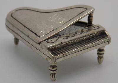 Vintage Solid Silver Piano Miniature - Stamped - Dollhouse - Made in Italy