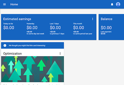 google adsense USA non hosted account for website
