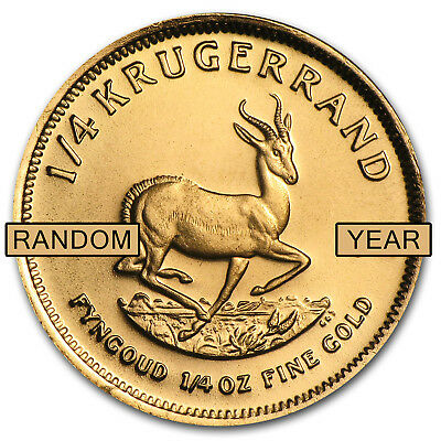 Random Year 1/4 oz Gold South African Krugerrand Coin