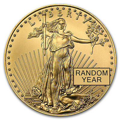 Random Year 1/2 oz Gold American Eagle Coin
