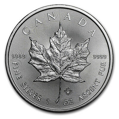 2017 1 oz Silver Canadian Maple Leaf Coin Brilliant Uncirculated BU
