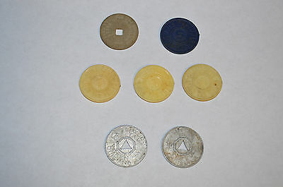 Vintage Lot of 7 Mississippi & Louisiana State Sales Tax Tokens