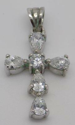 Vintage Sterling Silver 925 Cross Pendant - Stamped - Made in Italy
