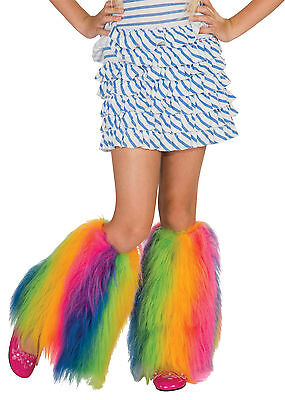 Fluffies Costume Leg Warmers Child: Rainbow One Size