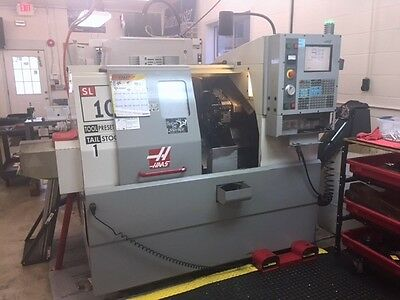 Haas SL-10T CNC Turning Center w/ Tool Pre-Setter, Auger, Rigid Tapping
