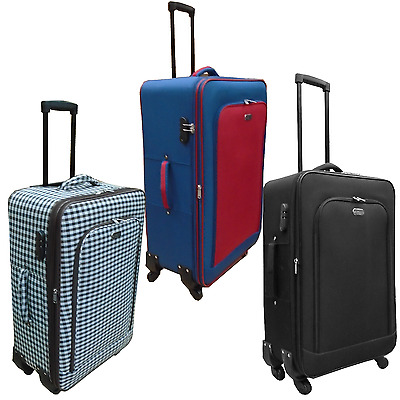 Medium Size Travel Suitcase Trolley Case 4 wheel spinning including Lock & label