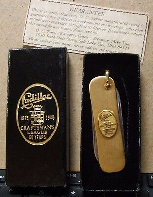 Cadillac Craftsman's League 1935-1985 Award pocket knife with original box
